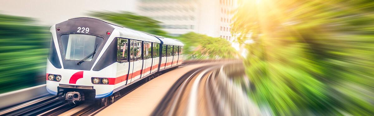 Sky train green