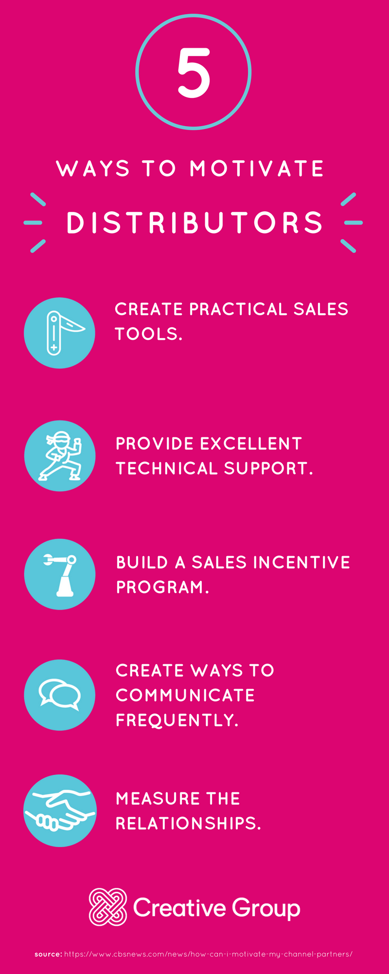 How to Motivate Distributors Infographic