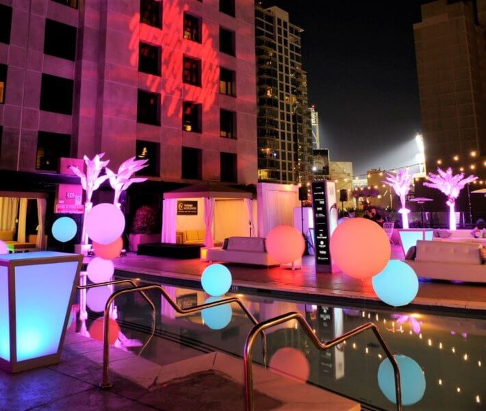 Customer Loyalty Pool Side Party Venue
