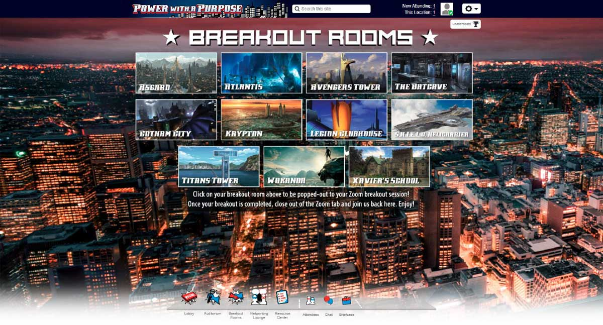Virtual Event Breakout Room